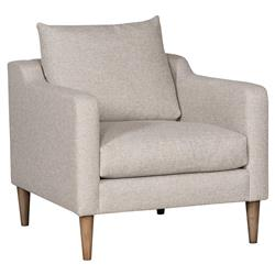 Vanguard Thea Modern Classic Light Grey Upholstered Occasional Arm Chair