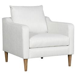 Vanguard Thea Modern Classic White Upholstered Occasional Arm Chair