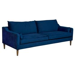 Vanguard Thea Modern Classic Blue Upholstered 2 Seater Sofa