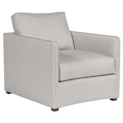 Vanguard Wynne Modern Classic Grey Upholstered Nailhead Trim Arm Chair