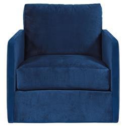 Vanguard Wynne Modern Classic Blue Upholstered Swivel Arm Chair