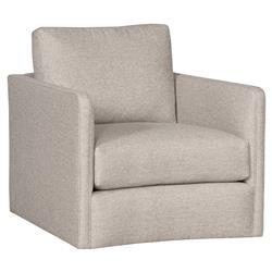 Vanguard Wynne Modern Classic Light Grey Upholstered Swivel Arm Chair