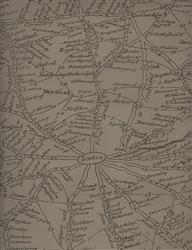 Vintage Masculine London Map Wallpaper - Coffee - 2 Rolls