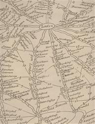 Vintage Masculine London Map Wallpaper - Parchment - 2 Rolls