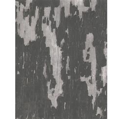 Distressed Plaster Industrial Loft Wallpaper - Charcoal