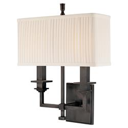 Hudson Valley Berwick Modern Rectangular Shade Old Bronze Sconce