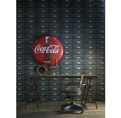 British Industrial Storage Drawers Wallpaper - Oxidized