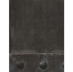Isambard Industrial Iron Panel Wallpaper - Lead