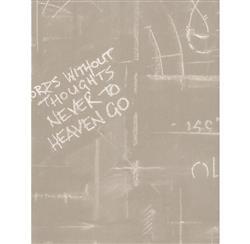 Eton Industrial Chalk Board Wallpaper - Sand