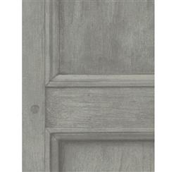 Traditional Aged Wood Panel Wallpaper - Grey