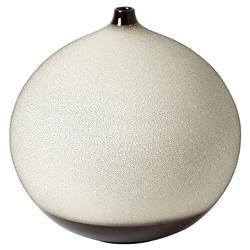 Holly Modern Classic Brown Ceramic Dotted Decorative Base - Medium