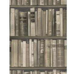 Wall Of Books Library Wallpaper - Stone - 2 Rolls