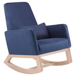 Monte Design Joya Modern Navy Blue Maple Rocker