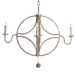 Winthrop French Country Interlocking Circle Rustic Chandelier