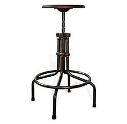 Brexton Height Industrial Adjustable Counter Stool