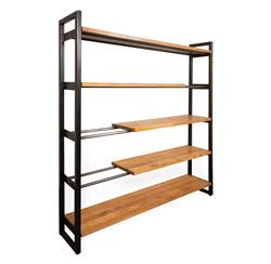 Gavin Solid French Oak Industrial Modern Bookcase