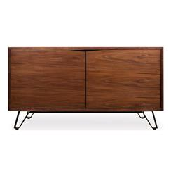 Digby Industrial Solid Walnut Console Sideboard