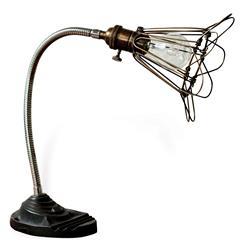 Finley Vintage Gooseneck Cage Wire Desk Lamp