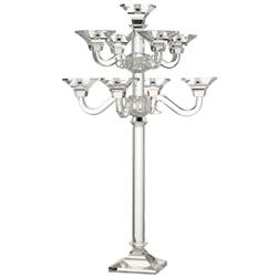 Layla Hollywood Regency Crystal 9 Arm Grand Candelabra | DKL-480108