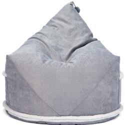 Mimish Aspen Modern Concrete Grey Metallic Sparkle Cord Storage Beanbag Lounger