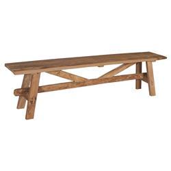 Danna Rustic Brown Reclaimed Teak Wood Bench - Small