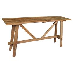 Danna Rustic Brown Reclaimed Teak Wood Console Table