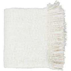 Joy Modern Classic Ivory Woven Throw Blanket