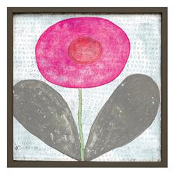 Happy Flower 'XOXO' Reclaimed Wood Art Print Wall Art - Small | SUGAR-LAP124-OX