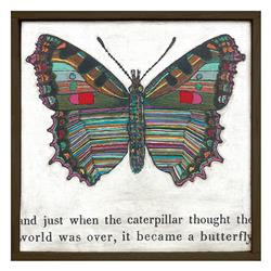 Colorful Butterfly Reclaimed Wood Art Print Wall Art - Small | SUGAR-LAP125-OX