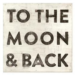 To The Moon and Back' Reclaimed Wood Vintage Wall Art - Large | SUGAR-AP203-3x3