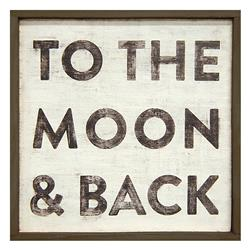 To The Moon and Back' Reclaimed Wood Vintage Wall Art - Small | SUGAR-LAP129-OX