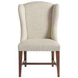 Blake Modern Classic Ivory Upholstered Nailhead Trim Wing Back Dining Chair