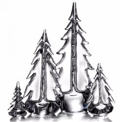 Simon Pearce Modern Classic Glass Young Evergreen Grove - Set of 4
