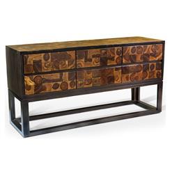 Sway Modern Rustic Chunky Wood Sideboard
