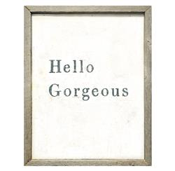 Hello Gorgeous Simplicity Vintage Reclaimed Wood Wall Art