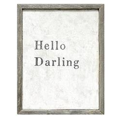 Hello Darling' Simplicity Vintage Reclaimed Wood Wall Art