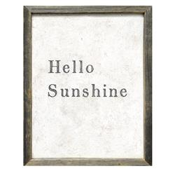 Hello Sunshine' Simplicity Vintage Reclaimed Wood Wall Art | SUGAR-AP157