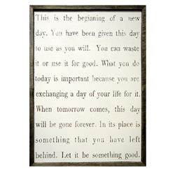 This Is The Beginning' Simplicity Vintage Reclaimed Wood Wall Art - Small | SUGAR-AP160-2x3
