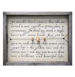 An Invisible Thread Reclaimed Wood Wall Art
