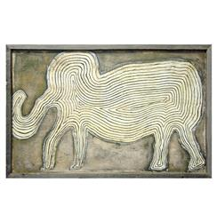 Gray Elephant In The Room Reclaimed Wood Vintage Wall Art