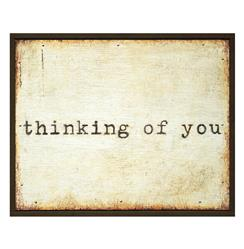 Thinking of You' Vintage Typewriter Wooden Painted Wall Art