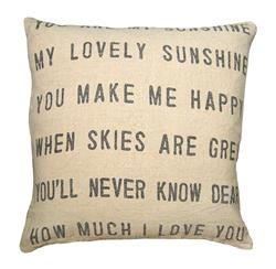 You Are My Sunshine Linen Down Throw Pillow - 24x24