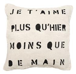 Je TAime Infinite Love Linen Down Throw Pillow