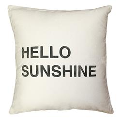 Hello Sunshine Bold Script Linen Down Throw Pillow
