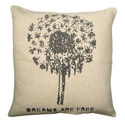 Dreams Are Free Blow Flower Ella Down Pillow - 24x24