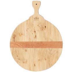 Karen Modern Classic Brown Oak Wood Round Cutting Board