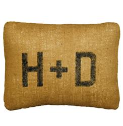 Rustic Burlap Custom Initial Pillows - 16x19