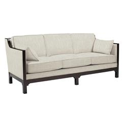 Lila Contemporary Straight Arm Exposed Dark Wood Sofa | BMS-6042.EL