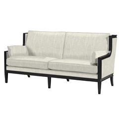 Victoria Hollywood Regency Wing Back Copper Noir Sofa