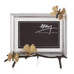Michael Aram Butterfly Gingko Modern Classic Silver Nickelplate Easel Frame - 4x6